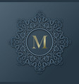 frame monogram design vector image vector image