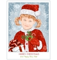 Girl in Santa Claus clothes