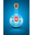 glass flask bottle vector image
