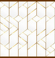 gold frame mosaic seamless pattern vector image vector image