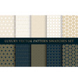 golden luxury swatches pattern pack vector image vector image