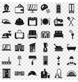 good house icons set simple style vector image vector image