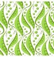 Green peas seamless pattern background vector image vector image