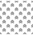 hand keep global bulb pattern seamless vector image vector image