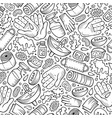 hand wash hand drawn doodles seamless pattern vector image vector image