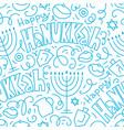 happy hanukkah seamless pattern background vector image vector image