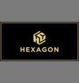hc hexagon logo design inspiration vector image vector image