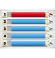 Infographics with numbered pencils vector image vector image