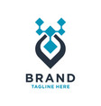 initial logo design technology v vector image vector image