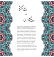 Invitation card with lace ornament vector image vector image