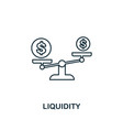 liquidity outline icon thin line element from vector image vector image