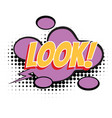 look text comic word vector image vector image