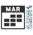 March Calendar Page Flat Icon With Bonus vector image vector image