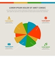 Modern infographics in a pie chart for web or vector image vector image