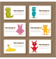 monster tags vector image vector image