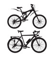 mountain and touring bikes black vector image
