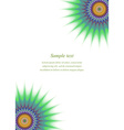 Multicolor fractal page corner design template vector image vector image