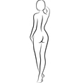 Naked woman vector image