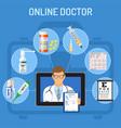 Online doctor concept vector image