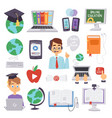 online education languages school and vector image vector image