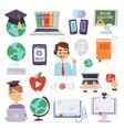 online education languages school vector image