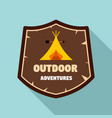 outdoor new adventures logo flat style vector image