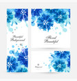 romantic background with blue cornflowers vector image vector image
