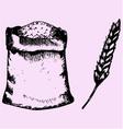 sack flour vector image