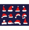 Santa Claus red hat silhouette vector image vector image