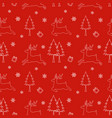 seamless pattern of winter season christmas design vector image