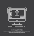 secure protection safe system data icon line vector image