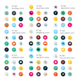 Set of flat icons education vector image vector image