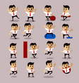 set of manager or business man character vector image vector image