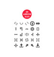 set of simple icons arrows vector image