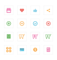 Shopping icon set design vector image vector image