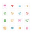 Shopping icon set design vector image
