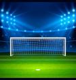 soccer stadium green football field on stadium vector image vector image