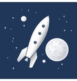Space rocket flying in space vector image vector image