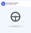 steering wheel icon filled flat sign vector image vector image