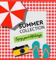 summer collection enjoy your holiday poster vector image vector image