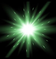 sunlight with lens flare effect green color vector image vector image