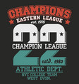 t-shirt graphics new york athletic apparel design vector image vector image