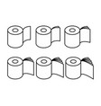 toilet paper rol set icon collection symbol for vector image vector image
