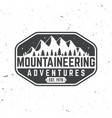 vintage typography design with mountain silhouette vector image vector image