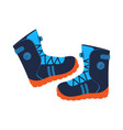 walking boots isolated icon vector image