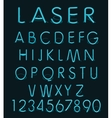 Blue light glass reflect laser neon vector image