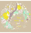 Decorative floral background with flowers of peony vector image