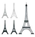 Different eiffel tower landmark set vector image