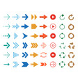 modern colored arrows icon set vector image