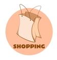 Sketch of paper bag vector image